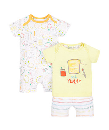 Food Shortie Pyjamas - 2 Pack