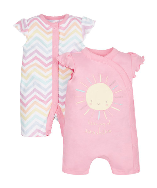 Sunshine Rompers - 2 Pack