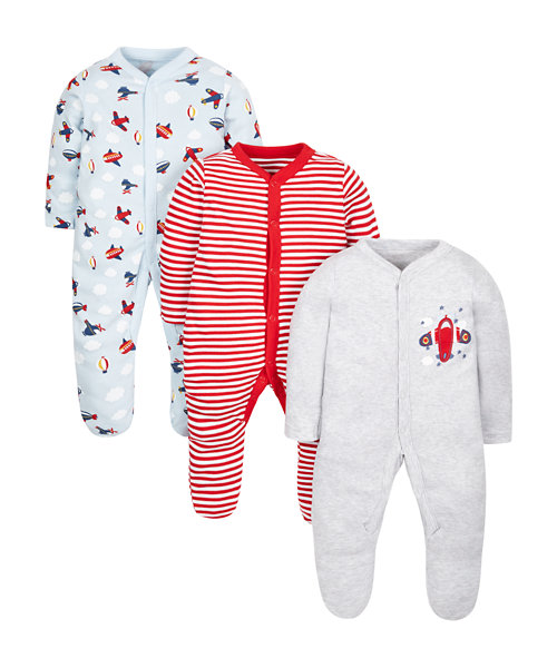 Plane Sleepsuits - 3 Pack