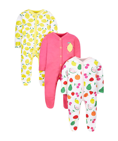 Fruity Sleepsuits - 3 Pack