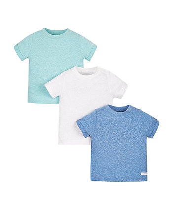 Blue and White T-Shirts - 3 Pack