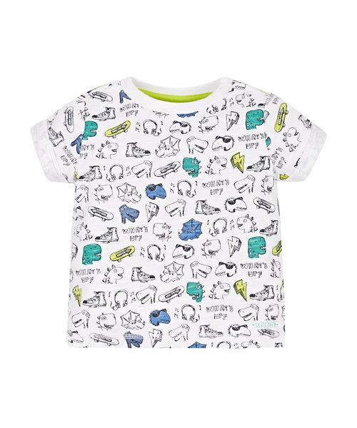 Dinosaurs Print T-Shirt