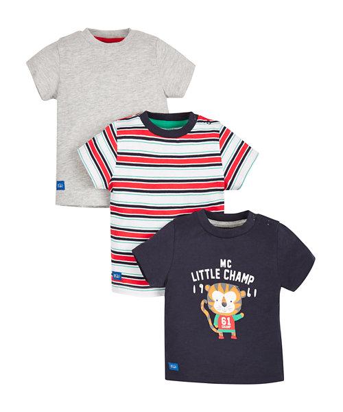 Little Champ T-Shirts - 3 Pack