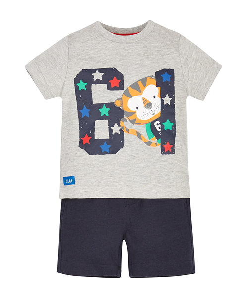 Tiger T-Shirt and Shorts Set