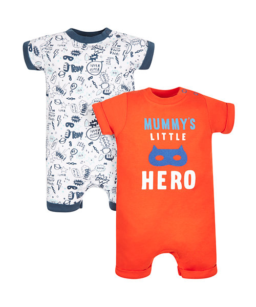 Superhero Rompers - 2 Pack
