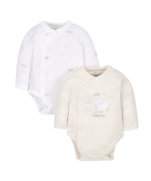 Little Lamb Wrap Bodysuits - 2 Pack