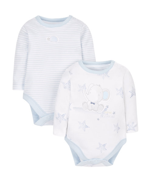 Elephant Bodysuits - 2 Pack
