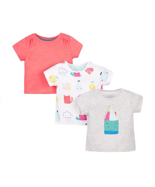 Happy Home T-Shirts - 3 Pack