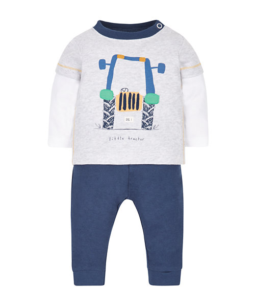 Little Tractor T-Shirt and Joggers Set