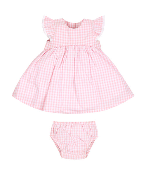 Pink Gingham Dress and Knickers