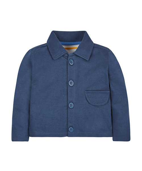 Blue Loopback Layering Jacket