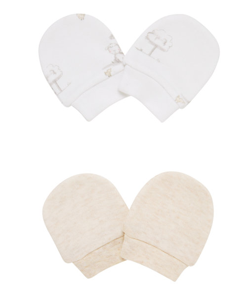 Sheep and Oatmeal Mittens - 2 Pack