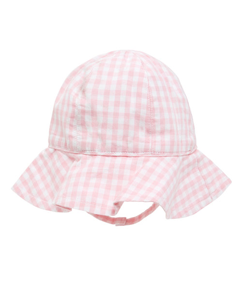 Pink Gingham Woven Hat
