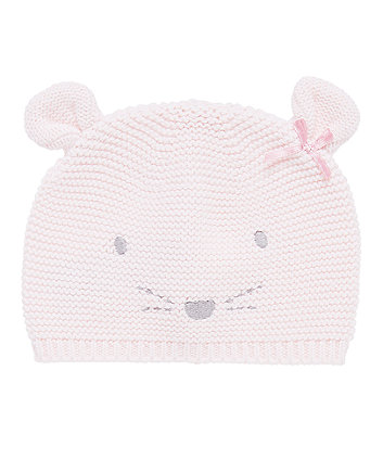 My First Purl Knit Little Mouse Hat - 3-6 months