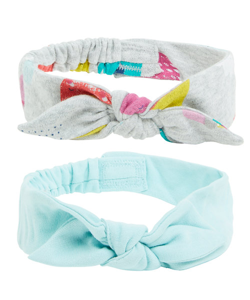 Grey and Turquoise Headbands - 2 Pack