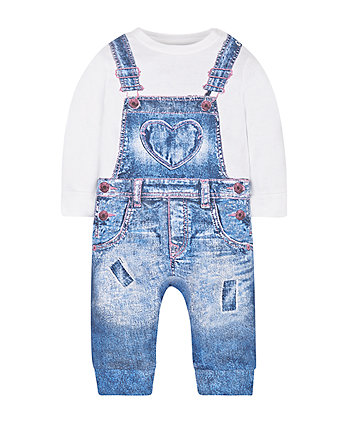 Mock Dungaree All In One