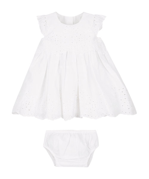 Broderie Dress and Knickers Set