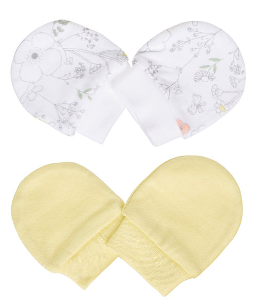 Scratch Mitts - 2 Pack (0-3 mths)