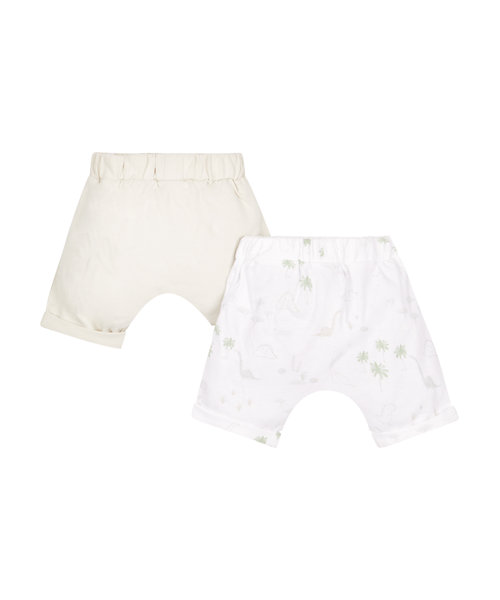 Stone and Dino Print Shorts - 2 Pack