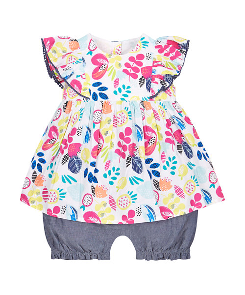 Floral Romper, Bloomer All In One