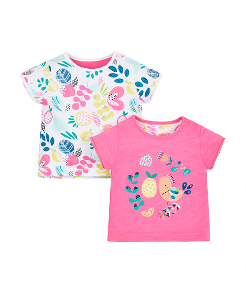 Floral and Fruit T-Shirts - 2 Pack