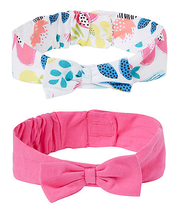 Floral And Pink Headbands - 2 Pack