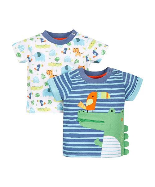 Crocodile and Jungle T-Shirts - 2 Pack