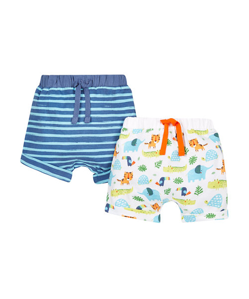 Stripe and Safari Shorts - 2 Pack