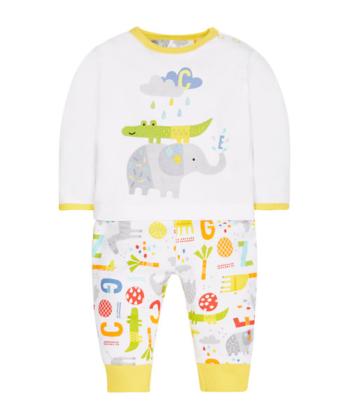 Animals Top and Leggings Set