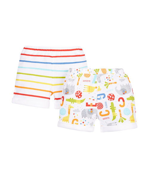 Striped and Printed Shorts - 2 Pack