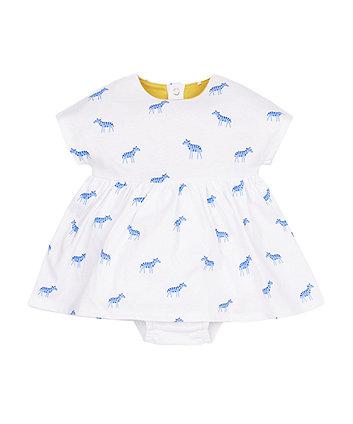 Zebra Romper Dress