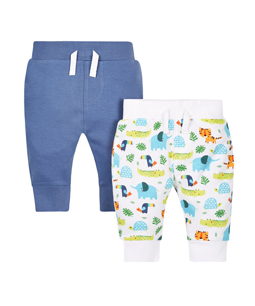 Blue and Safari Leggings - 2 Pack