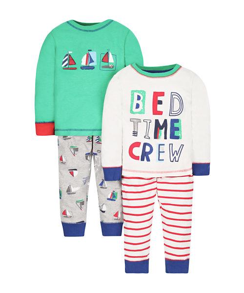 Bedtime Crew Pyjamas - 2 Pack
