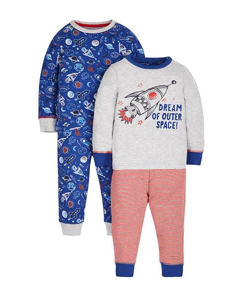 Rocket Pyjamas - 2 Pack