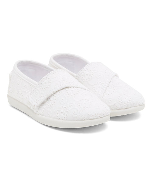 White Broderie Canvas Shoes