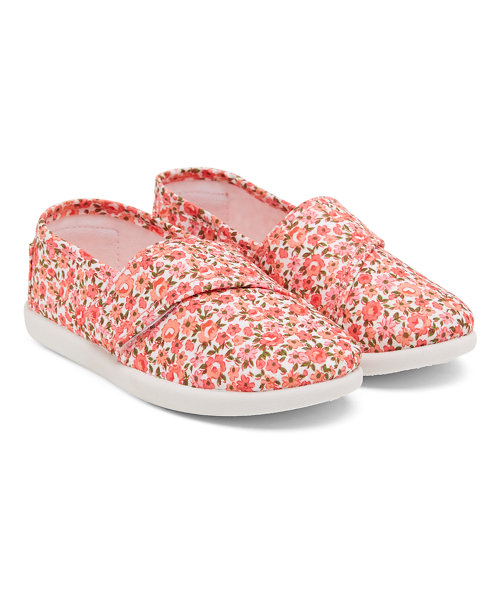 Pink Floral Canvas Shoes
