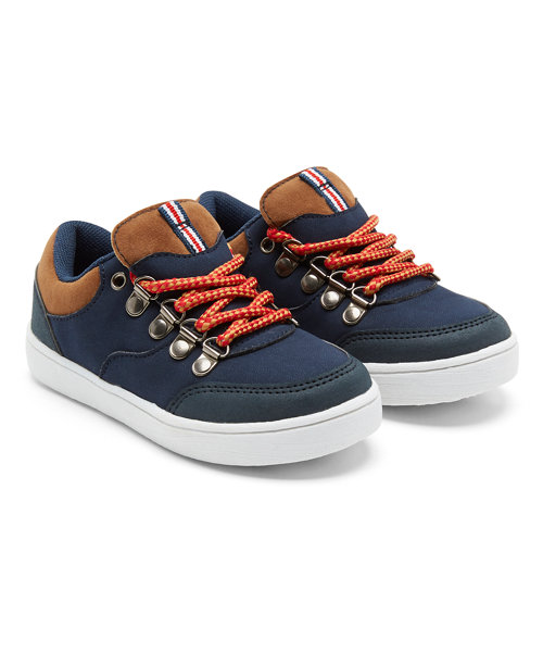 Ski Hook Navy and Tan Trainers