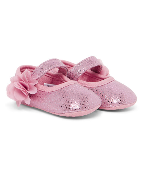 Pink Corsage Ballerina Shoes