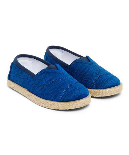 Blue Flecked Espadrilles size 4-4.5 years