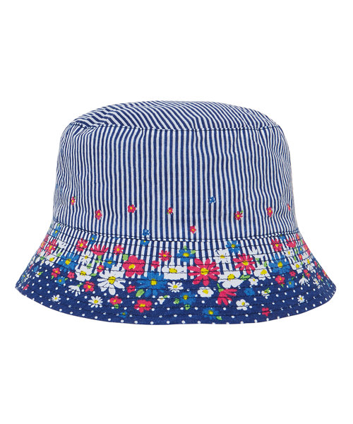 Floral and Striped Sun Safe Fisherman Hat