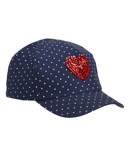 Spotted Heart Cap