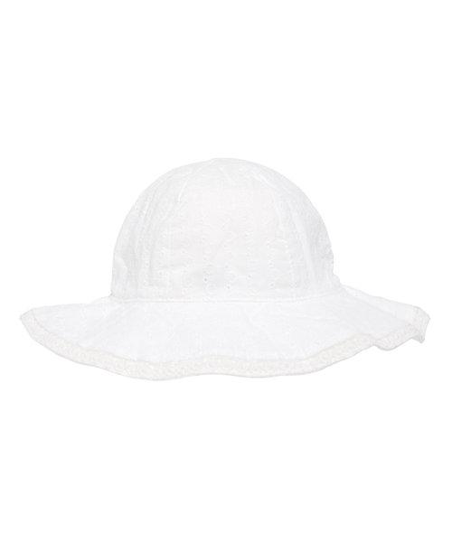 White Broderie Sunhat