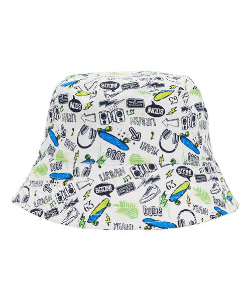 Skateboard Print Hat