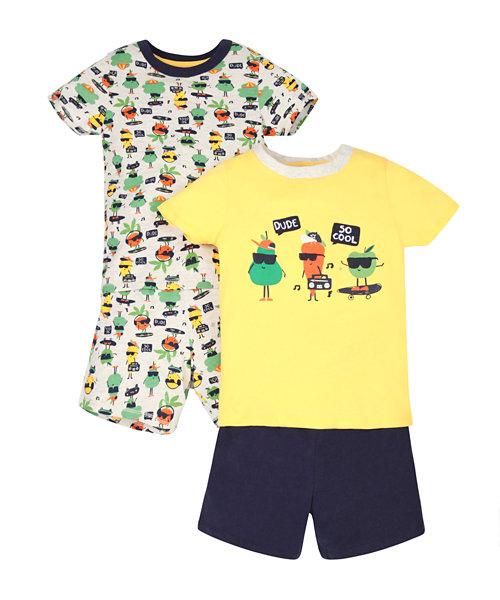 Super Food Shortie Pyjamas - 2 Pack