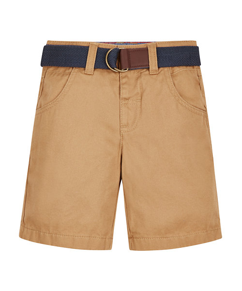 Brown Belted Shorts