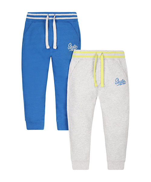 Blue and Grey Marl Joggers - 2 Pack