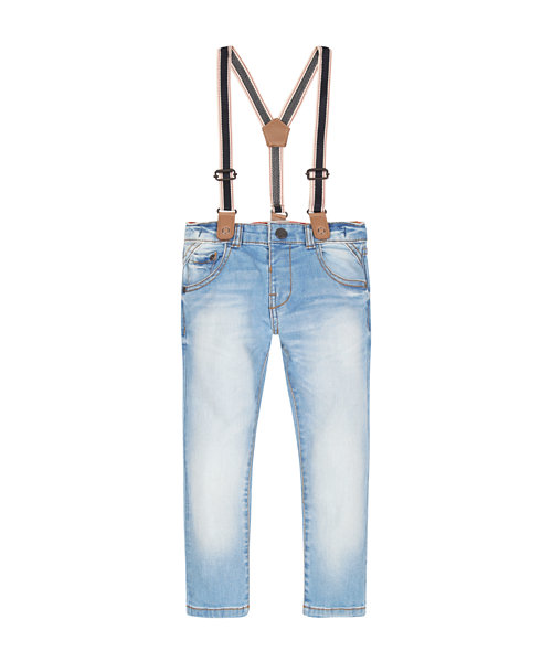 Light Wash Jeans with Braces