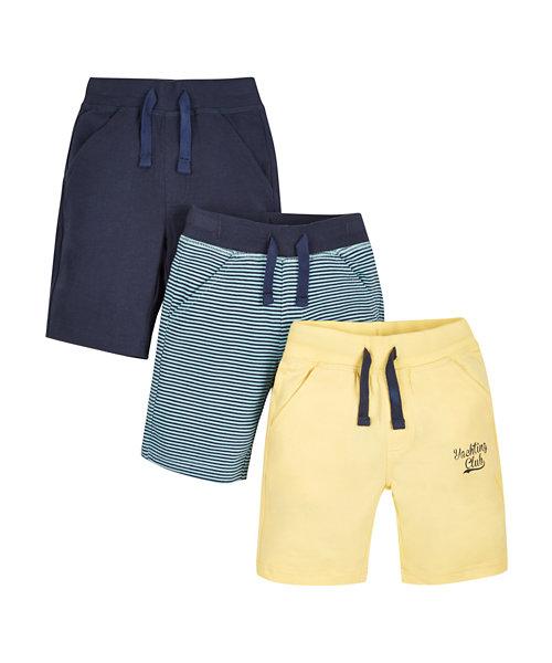 Ribwaist Jersey Shorts - 3 Pack