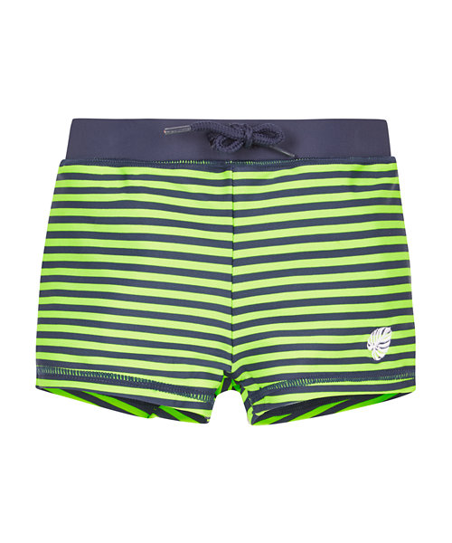 Green and Navy Stripe Trunks