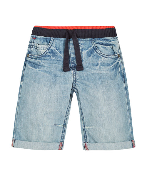 Ribwaist Denim Shorts